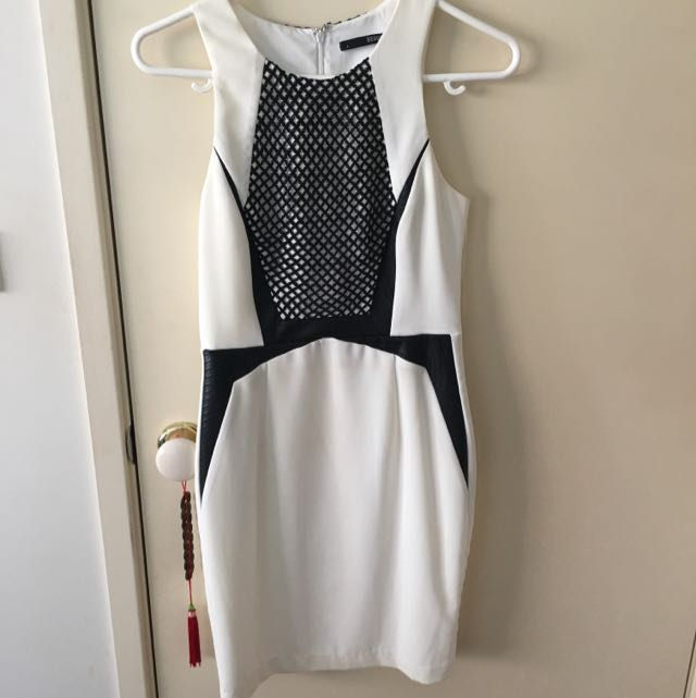 Seduce White And Black Dress - Size 8