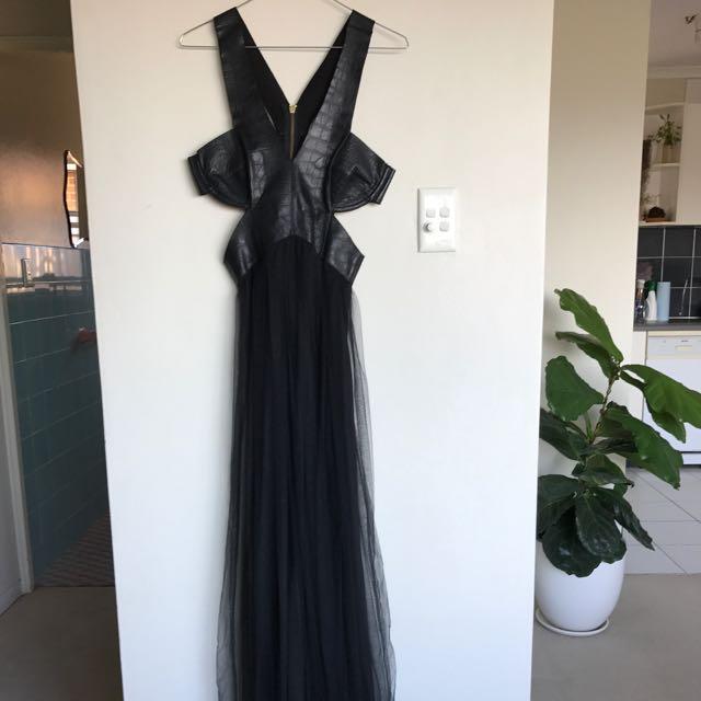 Shakuhachi Dress Black Floor Length Dress Size 8