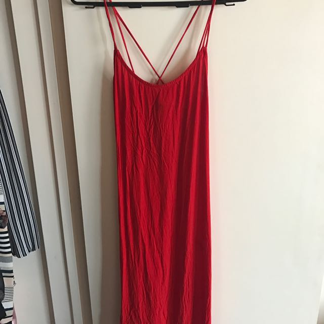 Simple Red Strappy Dress