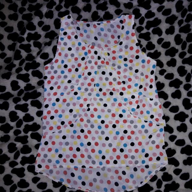 sleeveless polka dots