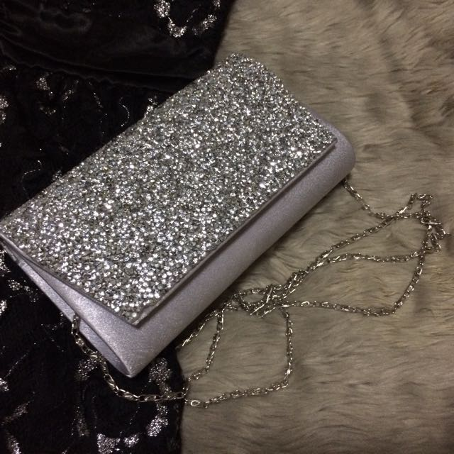 Sling/ Cluth Bag With Gems