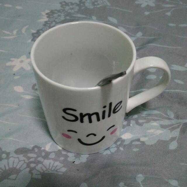 Smile馬克杯(附勺子)