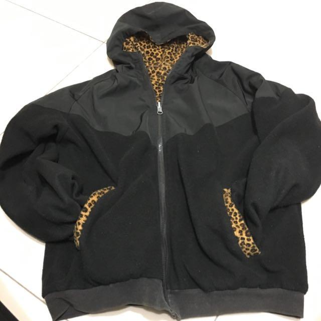 Sneeze豹紋連帽外套