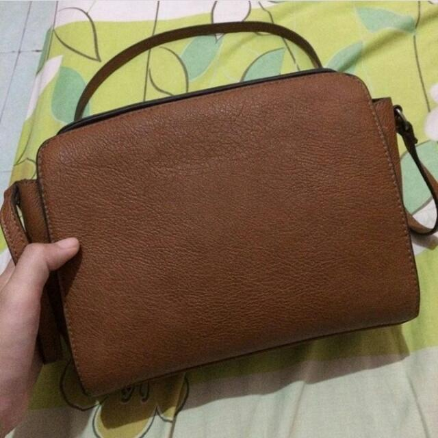 Stradivarius Sling Bag Brown