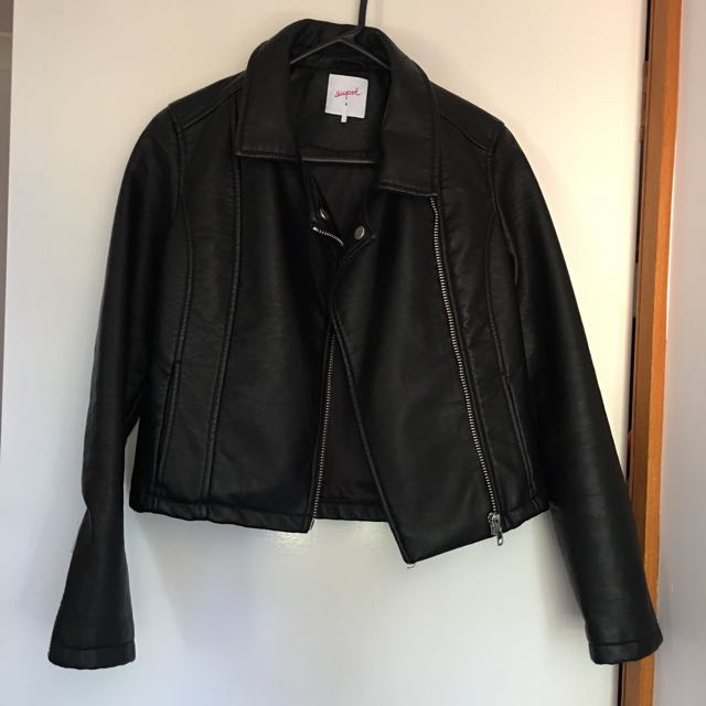 SUPRE Women's Faux Leather Jacket Size 6