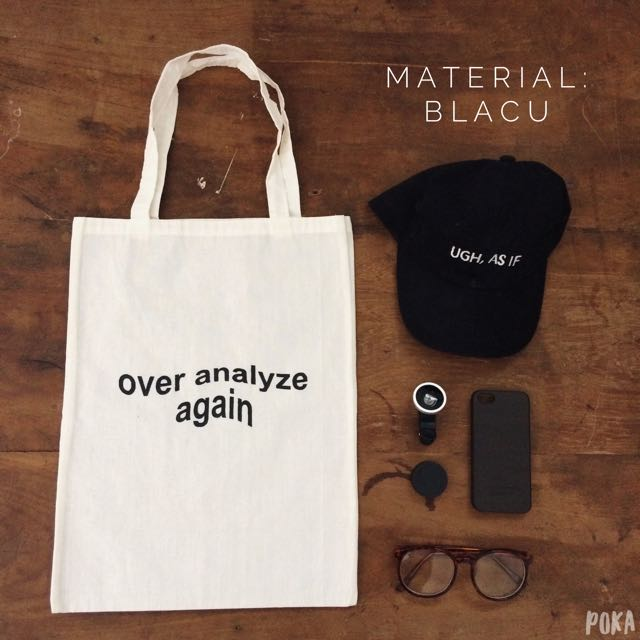 Tote Bag / Shopping Bag / Tas Totte Canvas Kanvas BLACU kode: SB02