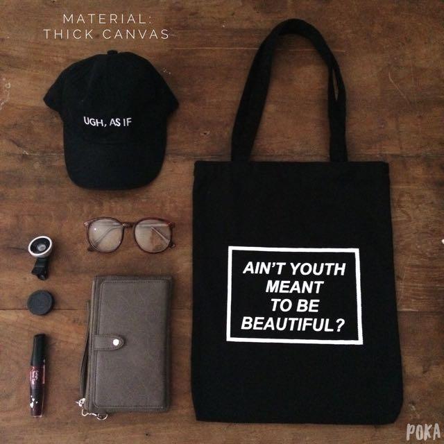 Tote Bag / Shopping Bag / Tas Totte Kanvas Canvas Tebal Kode: TB01