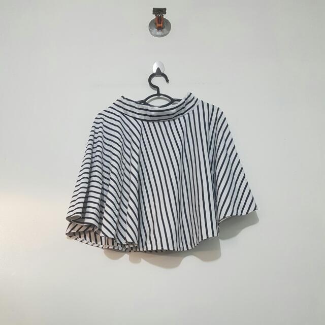 Unbranded Striped Skater Skirt