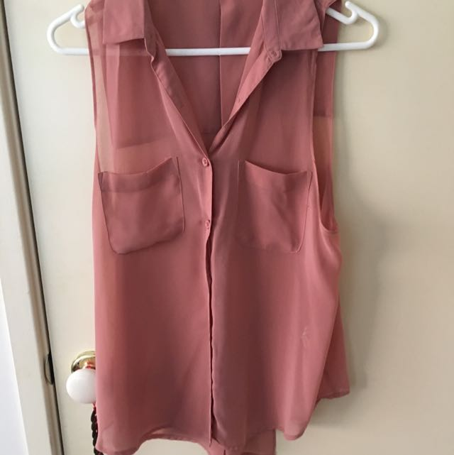 Valley Girl Blush Top - Size 8