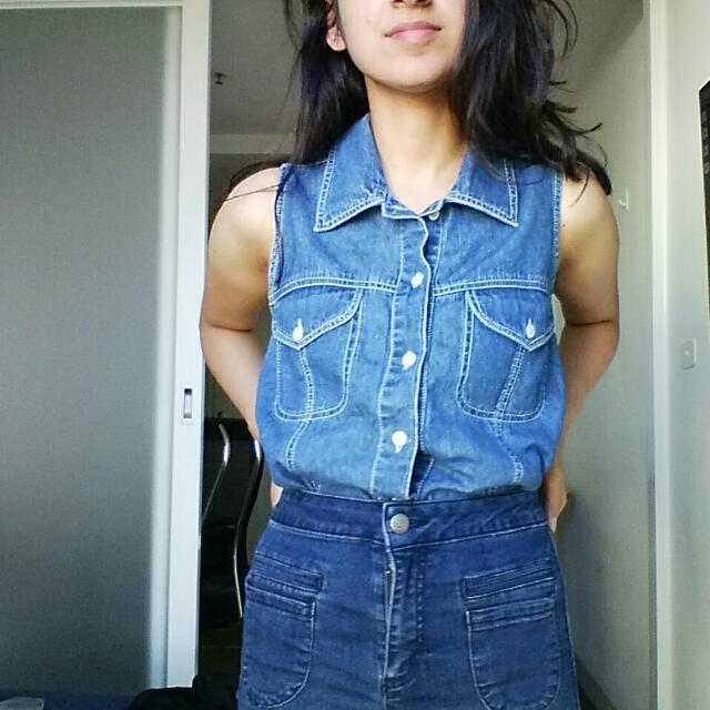 FREE - Vintage Denim Shirt - Size M