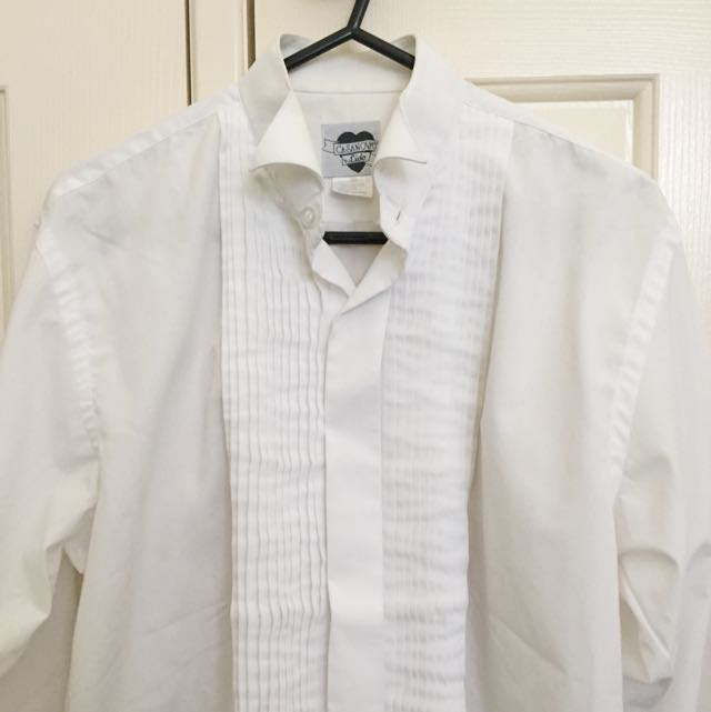 White Formal Shirt With Frills