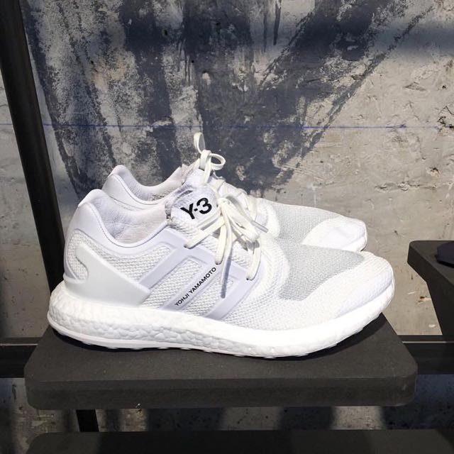 bc6010c35fb2 Y3 Pure Boost SG Knit Triple White on Carousell