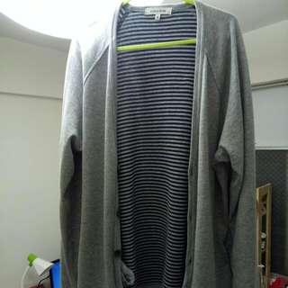 春季外套 針織外套  冷氣房外套灰色 M號