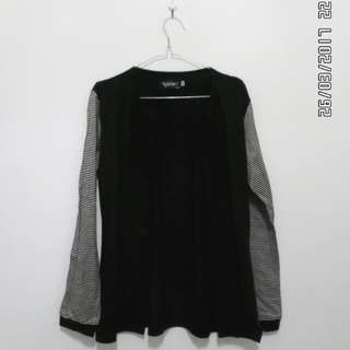 Bloop - cardi black stripe