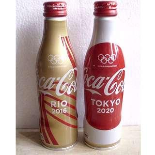Coca-Cola 16年日本奧運紀念鋁瓶兩瓶