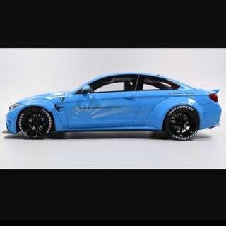1/18 GT SPIRIT Liberty Walk (LB) M4 (Baby Blue)