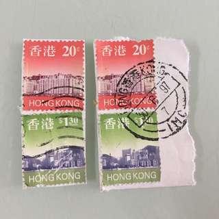 香港舊郵票4個