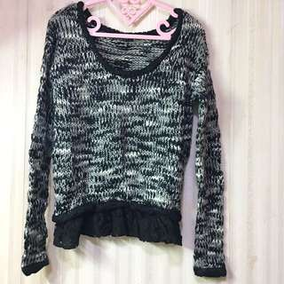 RIENDA: Classic Black & White Knit