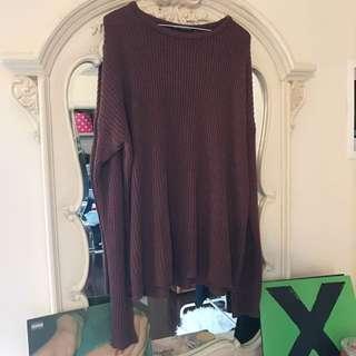 Brandy Melville Mauve Knit Sweater
