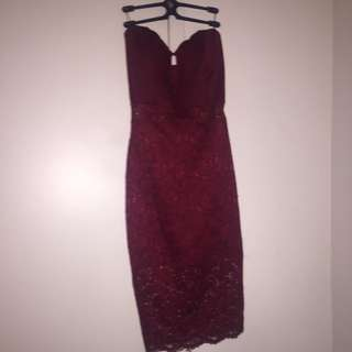 Seductiom Tube Dress (size Large)
