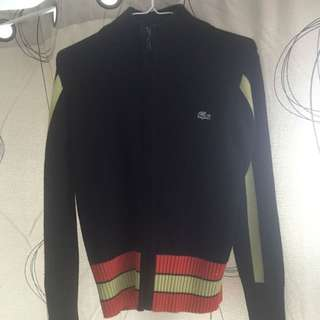 Black Lacoste Sweater (With A Zipper)