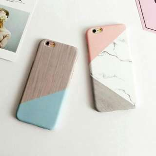 Hot PC Hard Phone Case Granite Marble Back For Iphone And Samsung