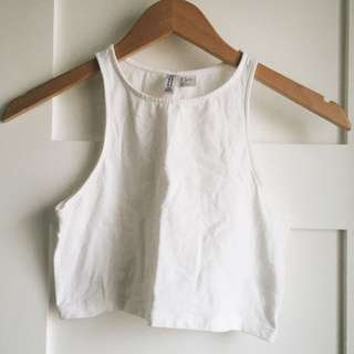 White Crop Halter