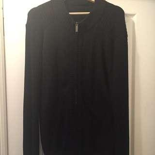 Armani Collezioni Zipper Cardigan