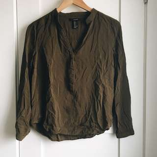 Olive Green Blouse
