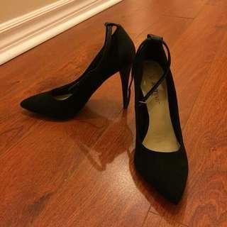 Stroppy Black Heels from Just Fab