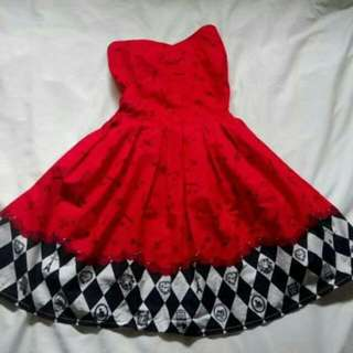 Little Red Musical Notes Dress