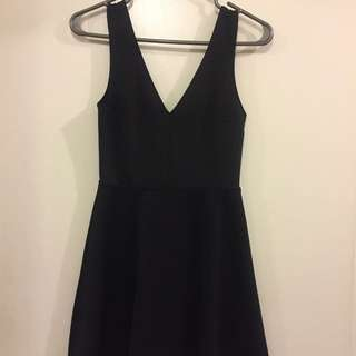 Deep V-Neck Little Black Dress