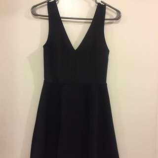 Deep V-Neck Little Black Dress