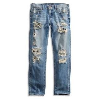 Lucky Brand Ripped Boyfriend Jeans