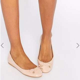 ASOS Baby Pink Ballet Flats with Bow Size 8