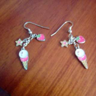 Star, Strawberry And Ice Cream Earrings