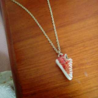 Red Converse Sneaker Necklace