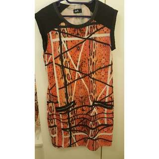 Tribal print dotti dress