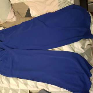 Open Split Blue Tailored Pants Size 10