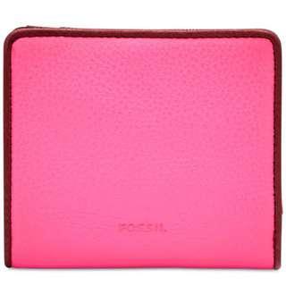 Fossil Emma RFID Neon Pink Mini Wallet