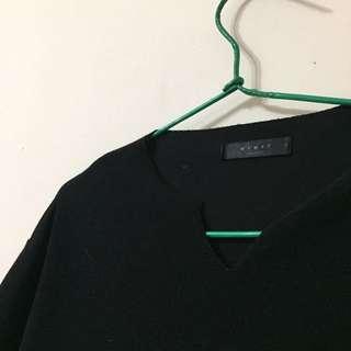 二手黑色五分袖上衣