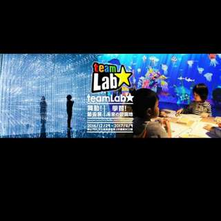 Teamlab展覽票券