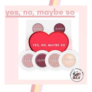 Colourpop Eyeshadow Foursome in Yes, No, Maybe So