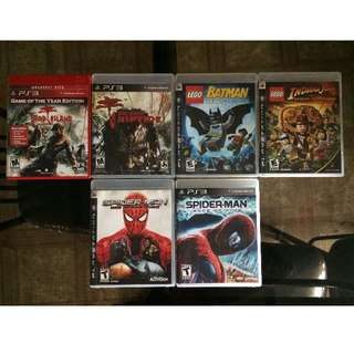 Sony PS3 Games Batch 1 (700-900php each)