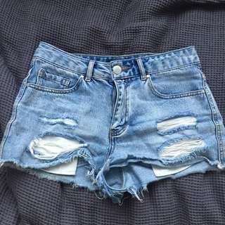 Denim Glassons Shorts