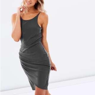 PILGRIM CLOTHING Indiana Wrap Dress KHAKI size 6