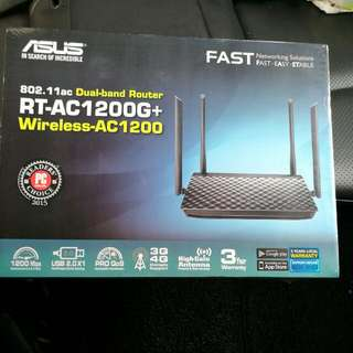 BRAND NEW ASUS 802.11ac Dual-band Router RT-AC1200G+ WITH 3-YEARS WARRANTY
