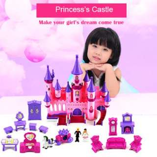 Fairy Princess Castle 24 Toy Doll Playset w/ Lights, Sounds