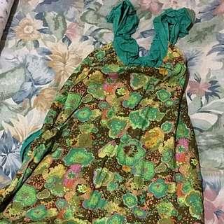 Tie Die Summer Halter Dress Fits S-L Frame