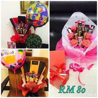 Hadiah Bunga Coklat